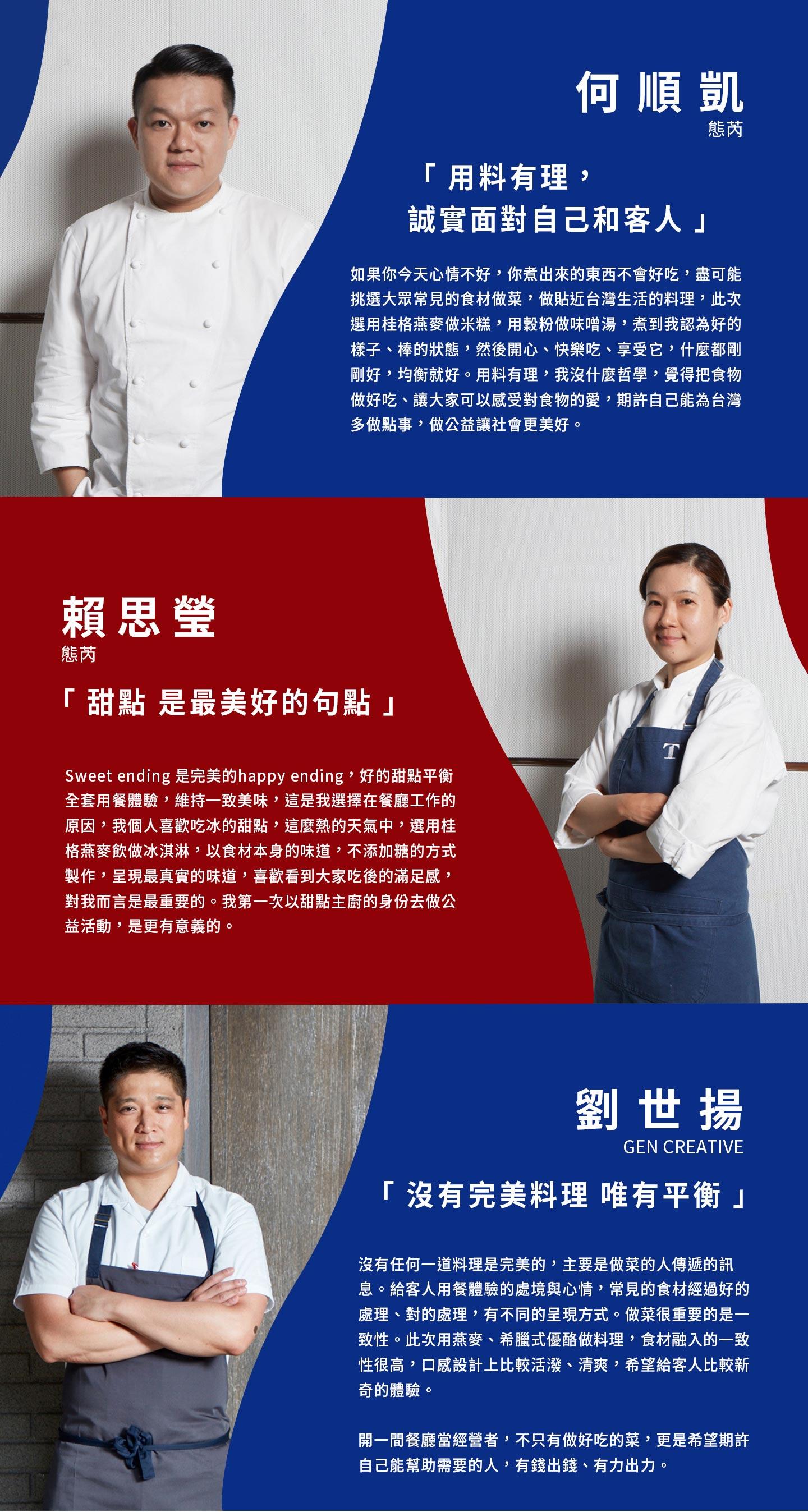 主廚訪談,何順凱,賴思瑩,劉世揚