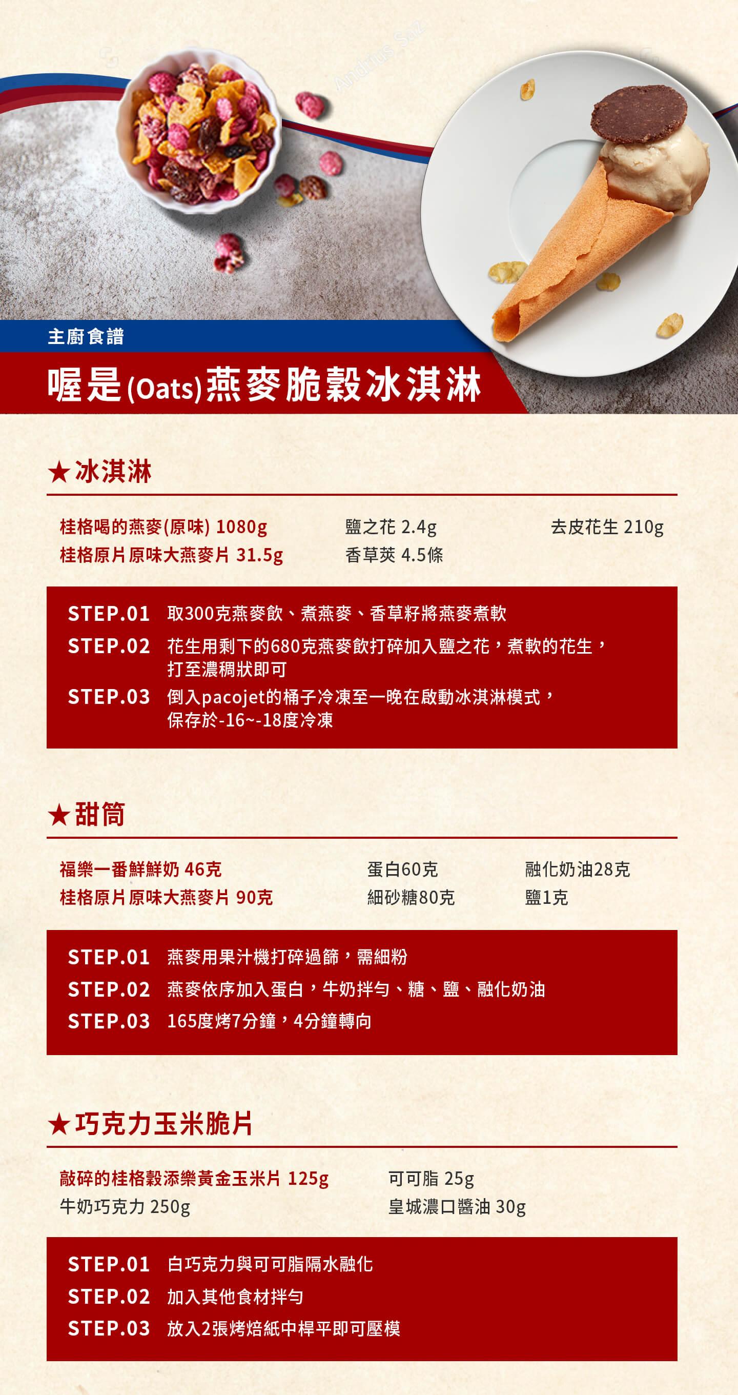 桂格,福樂,星級主廚健康食譜,喔是(Oats)燕麥脆穀冰淇淋,賴思瑩
